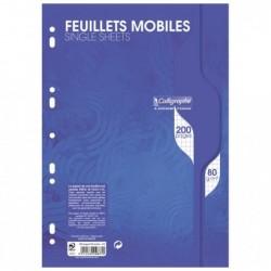 CALLIGRAPHE Feuillets mobiles s/film 21x29,7 200p Q.5x5 80g