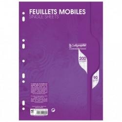 CALLIGRAPHE Feuillets mobiles s/film 21x29,7 200p séyès 90g