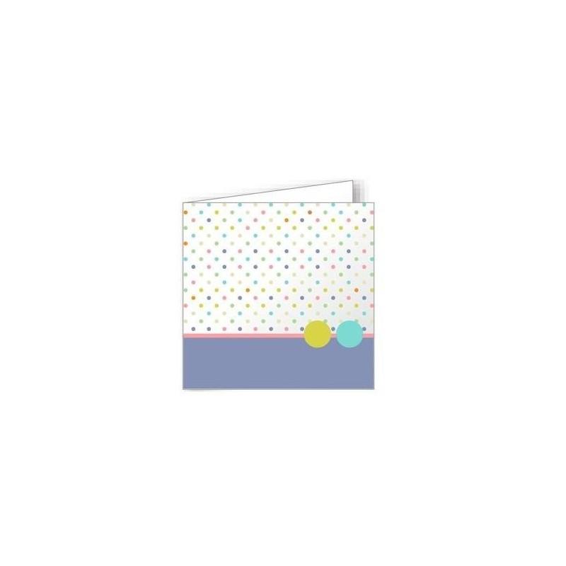 POLLEN EVÈNEMENT Paquet 10 cartes doubles rainées 135X135 210G impression pois FSC