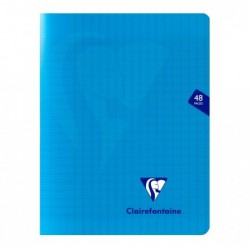 CLAIREFONTAINE Pack 10 Cahiers MIMESYS Piqué Polypro 17 x 22 cm 48 pages 90g Séyès Assortis
