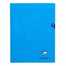 CLAIREFONTAINE Cahier MIMESYS Piqué Polypro 24 x 32 cm 96 pages 90g Séyès Bleu