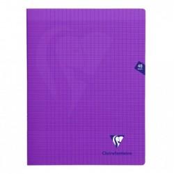 CLAIREFONTAINE Cahier MIMESYS Piqué Polypro 24 x 32 cm 48 pages 90g Séyès Violet