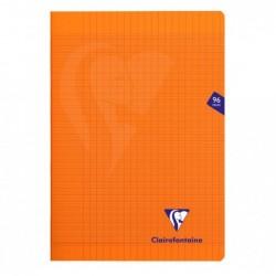 CLAIREFONTAINE Cahier MIMESYS Piqué Polypro 21 x 29,7 cm 96 pages 90g Séyès Orange