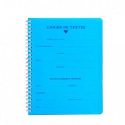 CALLIGRAPHE Cahier de Textes Spirale POLYPRO 17x22 124p séyès 70g Couleur Aléatoire