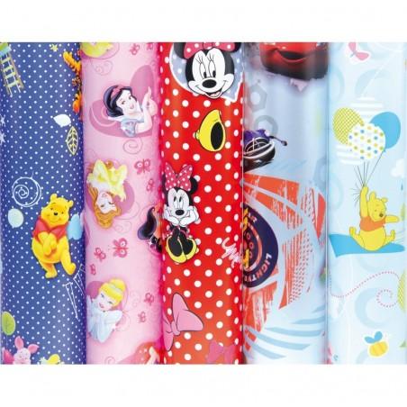 CLAIREFONTAINE Lot de 50 rouleaux papier cadeau Disney 2x0,7m assortis