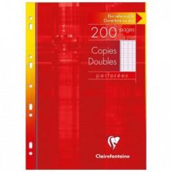 CLAIREFONTAINE Copies doubles perforées 90g s/étui 21x29,7 200 p séyès