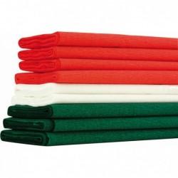 CLAIREFONTAINE Paquet de 10 plis de crépon 40% assortis Noël