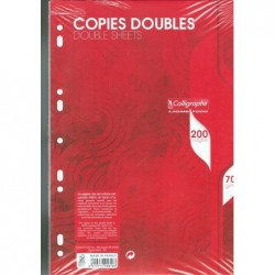 CLAIREFONTAINE Copies Doubles perforées A4 200 p 5x5 -perforées 70 g