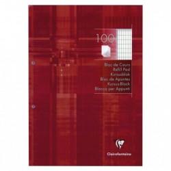 CLAIREFONTAINE Bloc de cours perf. 2 trous 21x29,7 200 p Q.4x8