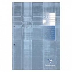 CLAIREFONTAINE Bloc de cours perf. 2 trous 21x29,7 200 p ligné + marge