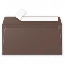 POLLEN Pack de 20 Enveloppe 120g 110x220 marron taupé