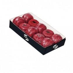 CLAIREFONTAINE Plateau de 10 pelotes de fil métallisé 1mmx20m rouge