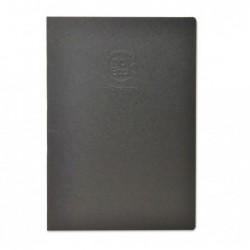 CLAIREFONTAINE Crok'Book piqué A4 à la française couleur noir 90g 24 feuilles