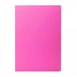 CLAIREFONTAINE Crok'Book piqué A4 à la française couleur fuchsia 90g 24 feuilles