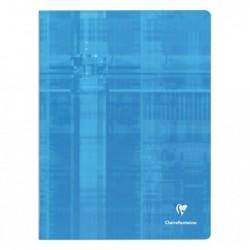CLAIREFONTAINE Cahier piqûre avec Seyès grands carreaux 24 x 32 cm 192 pages Coloris aléatoire