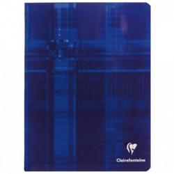 CLAIREFONTAINE Cahier piqué 17x22 96 pages 90g Séyès Coloris Aléatoire