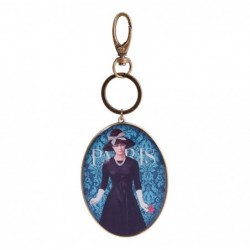 CAKES DE BERTRAND Porte-clés oval, laiton,  poche organza, Femme