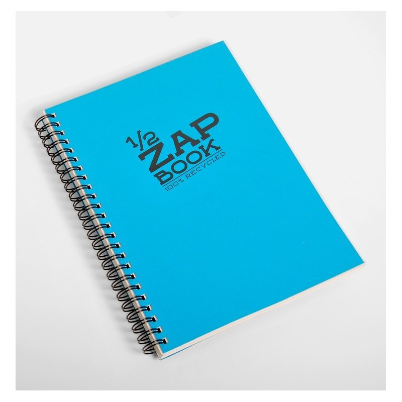 CLAIREFONTAINE 1/2 Zap Book spiralé 80 F 14,8x21 80g