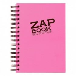 CLAIREFONTAINE Carnet croquis ZAP BOOK SPIRALE A5 80g 160 Feuilles coloris aléatoire vif
