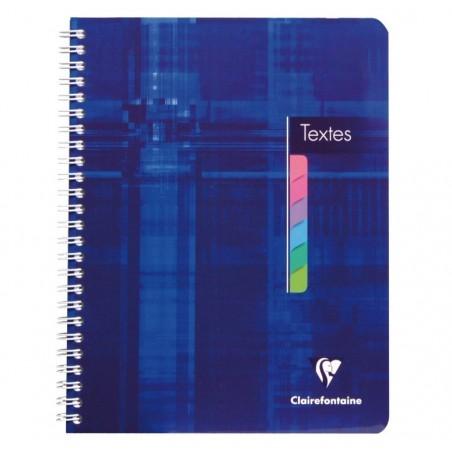 CLAIREFONTAINE Cahier de Textes reliure intégrale 17x22 144p séyès touches couleurs dét.