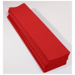CLAIREFONTAINE Paquet 10F Crépon M40 2x0.50m rouge