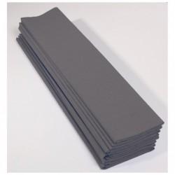 CLAIREFONTAINE Paquet 10F Crépon M40 2x0.50m gris