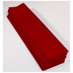 CLAIREFONTAINE Paquet de 10 feuilles papier Crépon M40 2x0.50m bordeaux