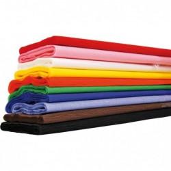CLAIREFONTAINE Paquet de 10 feuilles Crépon M40 2x0.50m couleurs aléatoires assorties