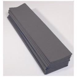 CLAIREFONTAINE Paquet 10F Crépon M75 2.5x0.5m gris