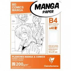 CLAIREFONTAINE Manga Etui BD/Comic B4 40F G.S. 200g