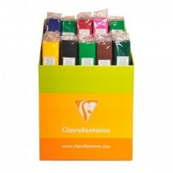 CLAIREFONTAINE Rouleau de papier crépon 75% couleurs vives ass. en Lot de 100 rlx