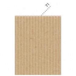 CLAIREFONTAINE Sac-étui 10F carton mini-microcannelé 50x70cm kraft