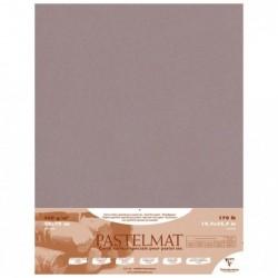 CLAIREFONTAINE Paquet 5F Pastelmat gris foncé 50x70cm 360g