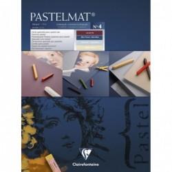 CLAIREFONTAINE Bloc Pastelmat n°4 24 x 30 cm 12F 360g 4 teintes
