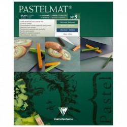CLAIREFONTAINE Bloc Lot 12 Feuilles Dessin Pastelmat n°5 360g 24 x 30 cm (4 Teintes x 3)