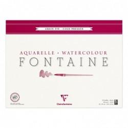 CLAIREFONTAINE Bloc Fontaine 25F grain fin 42x56 300g encollé 4 côtés