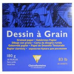 CLAIREFONTAINE Bloc dessin à grain encollé 180g 29,7x29,7cm 30F