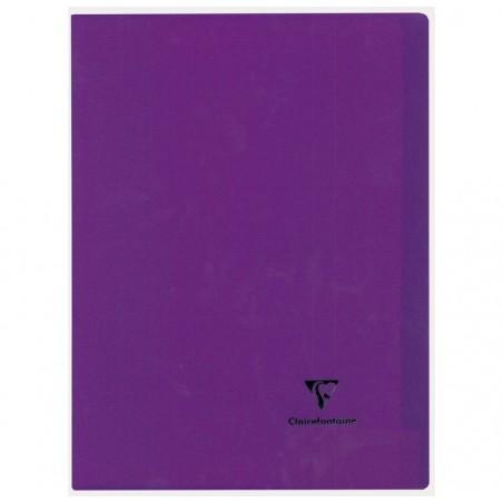 CLAIREFONTAINE Kover Book piqué polypro 21x29,7 96p séyès 7 couleurs aléatoire
