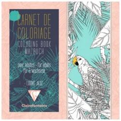 CLAIREFONTAINE Carnet de coloriage pour adultes, 36P 20x20cm Oiseaux