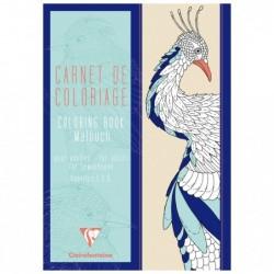 CLAIREFONTAINE Carnet de coloriage pour adultes, 48P 21x29,7cm Nature