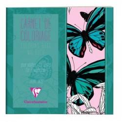 CLAIREFONTAINE Carnet de coloriage pour adultes, 36P 20x20cm Papillon