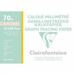 CLAIREFONTAINE Pochette calque millimétré bistre A4 12F 70/75g