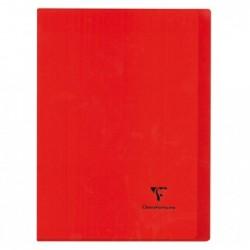 CLAIREFONTAINE Kover Book piqué polypro opaque Rouge 24x32 96p séyès