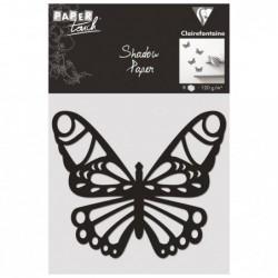CLAIREFONTAINE Shadow paper x8, Papillon, Noir