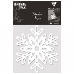 CLAIREFONTAINE Shadow paper x8, Flocons, Blanc
