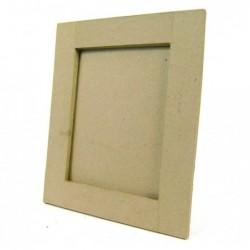 DÉCOPATCH Cadre carré plat 30x30cm en Kraft à décorer