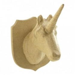 DÉCOPATCH Trophée licorne à décorer 18x15,5x21 cm