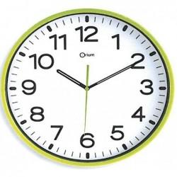 ORIUM Horloge quartz ABS SILENCIEUSE  Ø 30 cm Vert Anis  (1 x LR6 fournie)