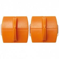FISKARS Lot de 2 Lames TripleTrack™ Titanium Coupe droite pour Massicots 9893 4153 5446 5454 5456 9690