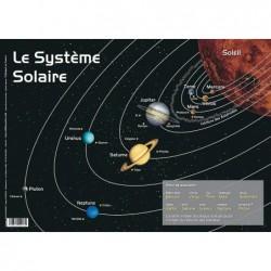 """ARIS EDITIONS Sous-main et Set de table éducatif 30x42 Plastifié, effaçable """"Les planètes"""""""